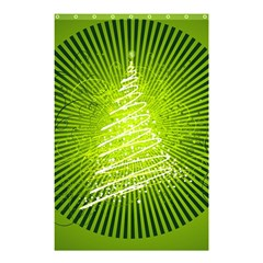 Vector Chirstmas Tree Design Shower Curtain 48  x 72  (Small)