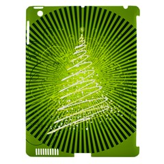 Vector Chirstmas Tree Design Apple iPad 3/4 Hardshell Case (Compatible with Smart Cover)