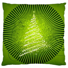 Vector Chirstmas Tree Design Large Cushion Case (One Side)