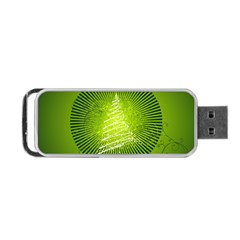 Vector Chirstmas Tree Design Portable USB Flash (Two Sides)