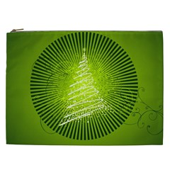Vector Chirstmas Tree Design Cosmetic Bag (XXL)