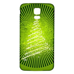Vector Chirstmas Tree Design Samsung Galaxy S5 Back Case (White)