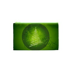 Vector Chirstmas Tree Design Cosmetic Bag (XS)