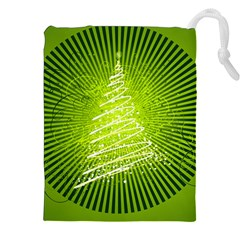 Vector Chirstmas Tree Design Drawstring Pouches (XXL)