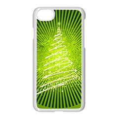 Vector Chirstmas Tree Design Apple iPhone 7 Seamless Case (White)