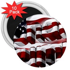 Usa America Trump Donald 3  Magnets (10 pack)