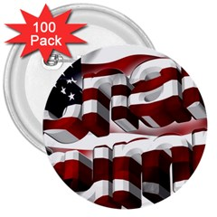 Usa America Trump Donald 3  Buttons (100 pack)