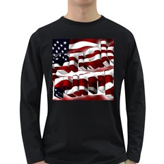 Usa America Trump Donald Long Sleeve Dark T-Shirts