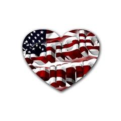 Usa America Trump Donald Rubber Coaster (Heart)
