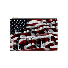Usa America Trump Donald Cosmetic Bag (Medium)