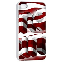 Usa America Trump Donald Apple iPhone 4/4s Seamless Case (White)