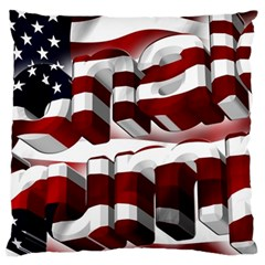 Usa America Trump Donald Large Cushion Case (Two Sides)