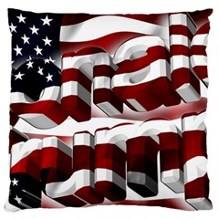 Usa America Trump Donald Large Flano Cushion Case (Two Sides)