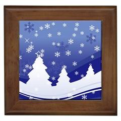 Vector Christmas Design Framed Tiles