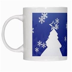Vector Christmas Design White Mugs