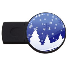 Vector Christmas Design USB Flash Drive Round (4 GB)