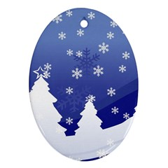 Vector Christmas Design Oval Ornament (Two Sides)