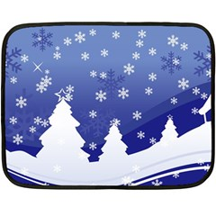 Vector Christmas Design Double Sided Fleece Blanket (Mini)