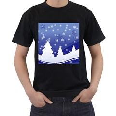 Vector Christmas Design Men s T-Shirt (Black)