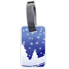 Vector Christmas Design Luggage Tags (One Side)