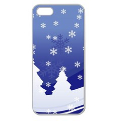 Vector Christmas Design Apple Seamless iPhone 5 Case (Clear)