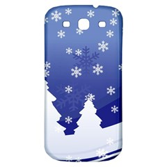 Vector Christmas Design Samsung Galaxy S3 S III Classic Hardshell Back Case