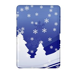 Vector Christmas Design Samsung Galaxy Tab 2 (10.1 ) P5100 Hardshell Case