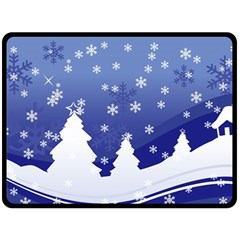 Vector Christmas Design Double Sided Fleece Blanket (Large)