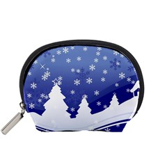 Vector Christmas Design Accessory Pouches (Small)