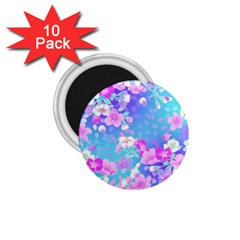 Colorful pastel flowers  1.75  Magnets (10 pack)