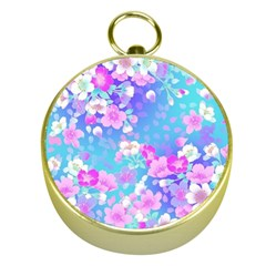 colorful pastel flowers Gold Compasses