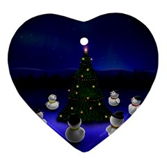 Waiting For The Xmas Christmas Ornament (Heart)