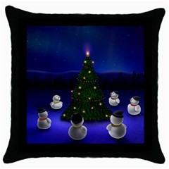 Waiting For The Xmas Christmas Throw Pillow Case (Black)