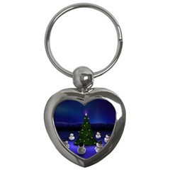 Waiting For The Xmas Christmas Key Chains (Heart)