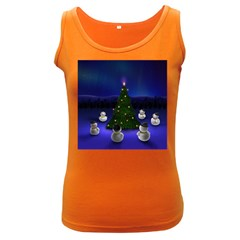 Waiting For The Xmas Christmas Women s Dark Tank Top