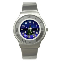 Waiting For The Xmas Christmas Stainless Steel Watch