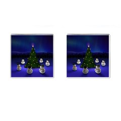 Waiting For The Xmas Christmas Cufflinks (Square)