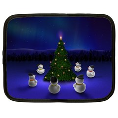 Waiting For The Xmas Christmas Netbook Case (XL)