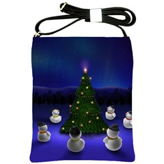 Waiting For The Xmas Christmas Shoulder Sling Bags