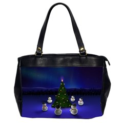 Waiting For The Xmas Christmas Office Handbags (2 Sides)
