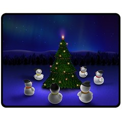 Waiting For The Xmas Christmas Fleece Blanket (Medium)