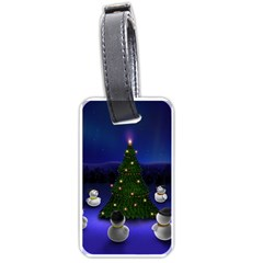 Waiting For The Xmas Christmas Luggage Tags (Two Sides)