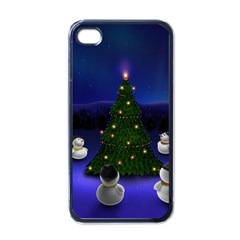 Waiting For The Xmas Christmas Apple iPhone 4 Case (Black)