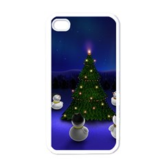 Waiting For The Xmas Christmas Apple iPhone 4 Case (White)