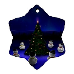 Waiting For The Xmas Christmas Snowflake Ornament (2-Side)