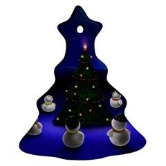 Waiting For The Xmas Christmas Christmas Tree Ornament (2 Sides)