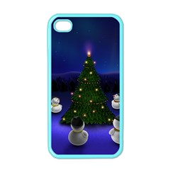 Waiting For The Xmas Christmas Apple iPhone 4 Case (Color)