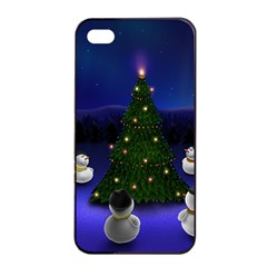 Waiting For The Xmas Christmas Apple iPhone 4/4s Seamless Case (Black)