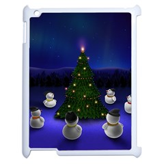 Waiting For The Xmas Christmas Apple iPad 2 Case (White)