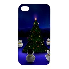 Waiting For The Xmas Christmas Apple iPhone 4/4S Premium Hardshell Case